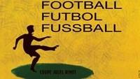 Seperi poster film-film Hollywood, gambar pesebakbola digambarkan sileut di poster Piala Dunia 1958 di Swedia. Foto: dok.mailonline