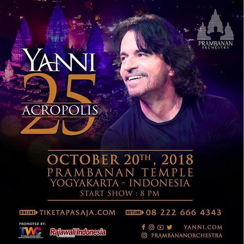 Kecelakaan, Pianis Yanni Tunda Konser di Indonesia