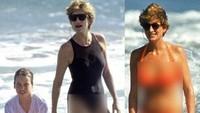 Siapa yang menampik kecantikan Putri Diana, apalagi usai melihat fotonya tengah menikmati debur ombak bersama Pangeran William. Dok. Instagram/velvetcoke