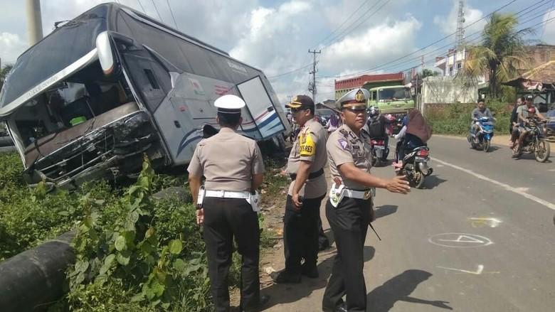 Tempat kecelakaan bus (Foto: ist.)