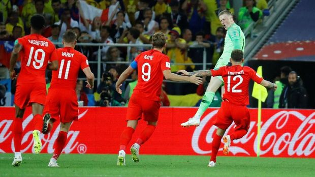 Inggris melenggang ke babak perempat final lewat drama adu penalti.