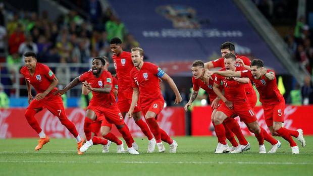 Inggris menang adu penalti atas Kolombia di babak 16 besar.