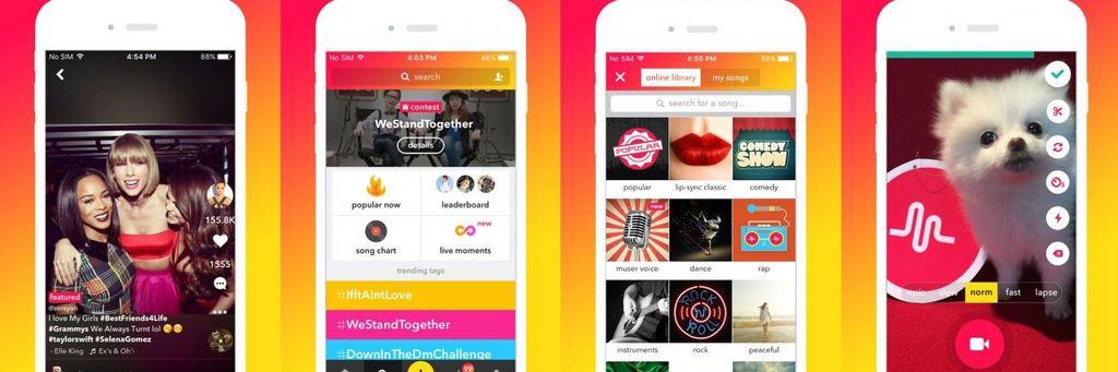 Musical.ly adalah aplikasi yang memungkinkan pengguna membuat video berdurasi 15 detik hingga satu menit, kemudian dapat ditambahkan filter dan audio. Musical.ly sendiri berada di bawah induk perusahaan yang sama dengan Tik Tok, yakni Beijing Bytedance Technology. Foto: Internet
