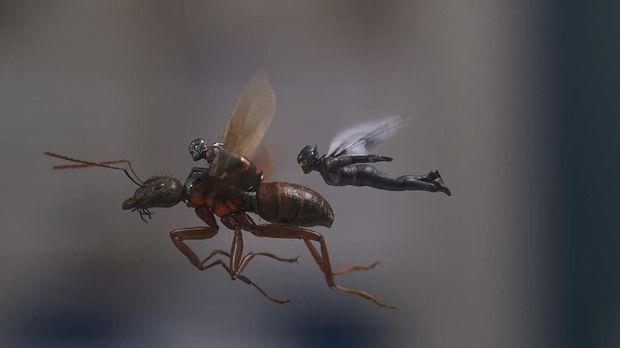 Ant-Man dan The Wasp bekerja sama menjadi pahlawan super.