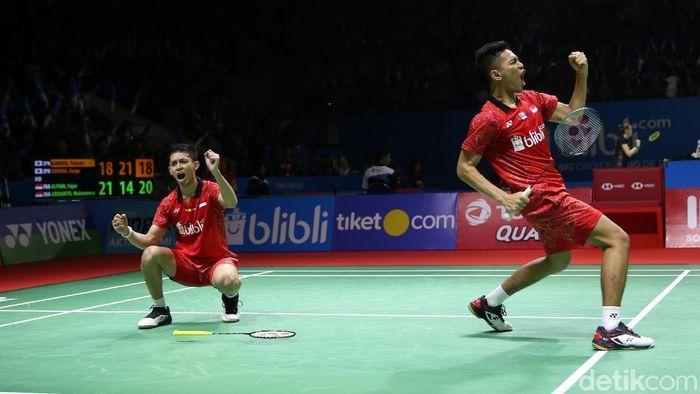 Fajar Alfian/Muhammad Rian Ardianto siap tampil di Kejuaraan Dunia Bulutangkis 2018 (Foto: Agung Pambudhy/detikSport)