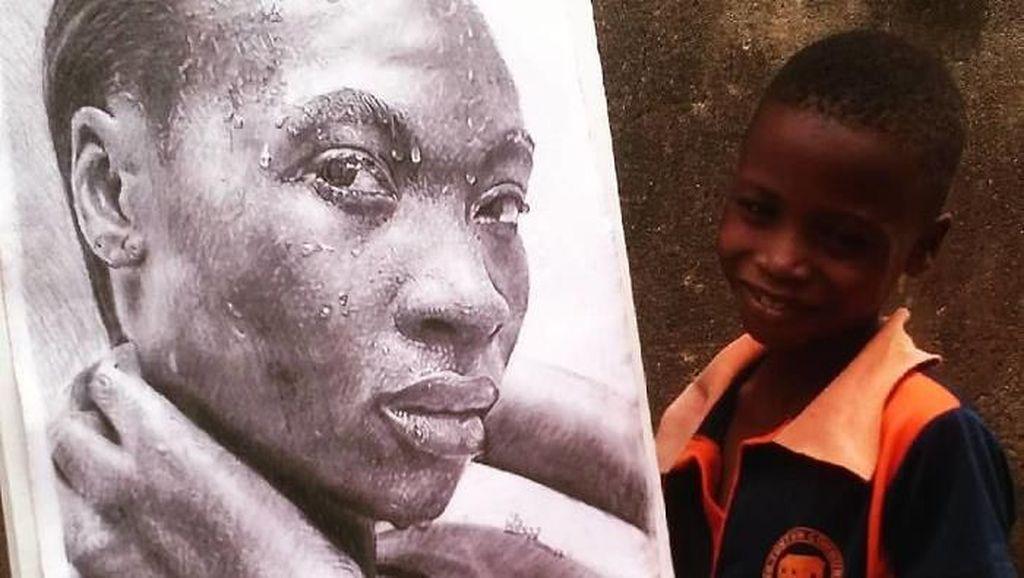 Keren! Lukisan Mirip Foto Karya Remaja 11 Tahun