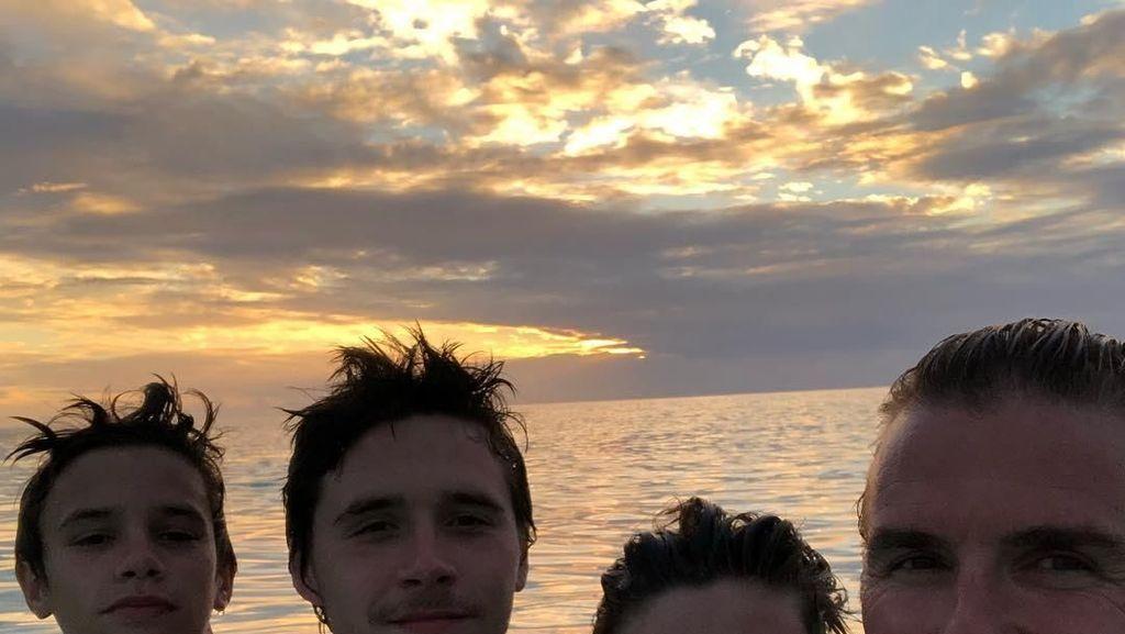 David Beckham dan Keluarga Kunjungi Bali