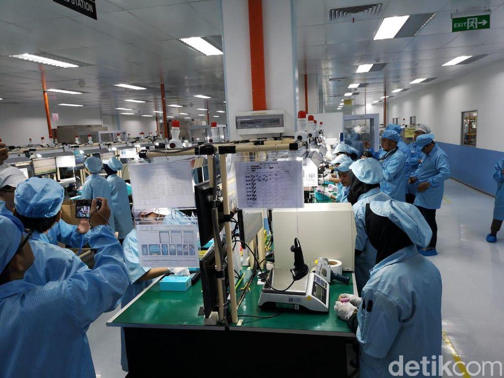 Pabrik smartphone Honor terletak di Batam, Kepulauan Riau yang memiliki luas sekitar tiga hektar. (Foto: detikINET/Muhammad Alif Goenawan)