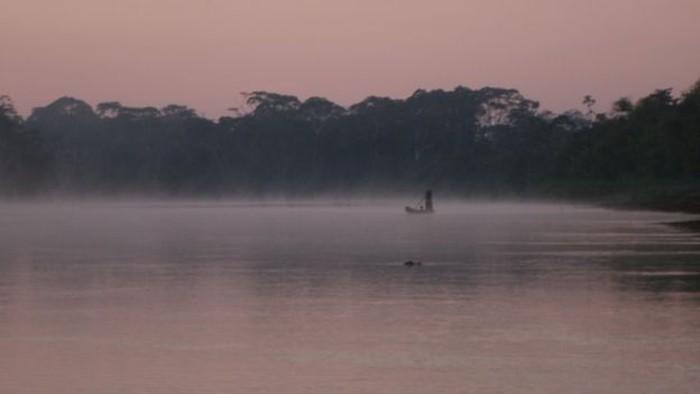 Orang-orang Tsimane tinggal di daerah pinggiran Sungai Maniqui, hutan hujan Bolivia. Foto: BBC