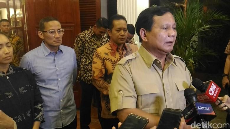 Elite di Sekitar Prabowo Diduga Bersaing Terkait Cawapres