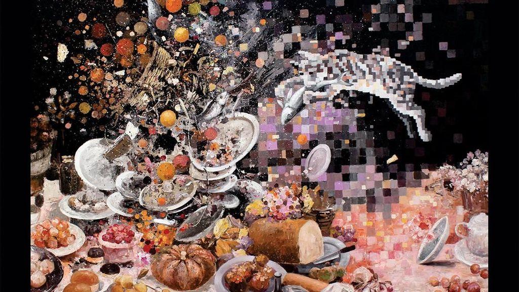 Lukisan-lukisan Piksel Azhar Horo Dipamerkan di Jakarta