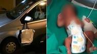 Bayi Ditemukan dalam Kantong Kertas yang Tergantung di Spion Mobil
