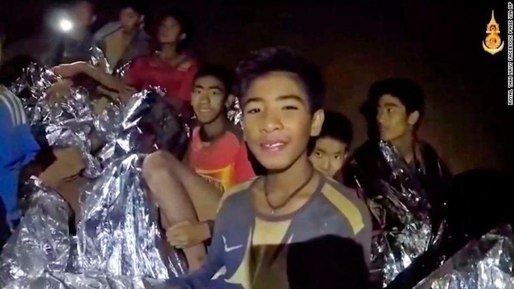 12 Bocah Terjebak di Gua Thailand Belum Siap Menyelam Keluar