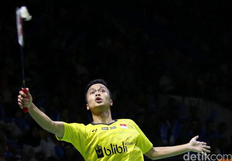 Anthony Ginting Terhenti di Babak 16 Besar Indonesia Open 2018
