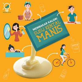 Bakar Kalori Susu Kental Manis, Butuh Menyetrika Baju Berapa Lusin?