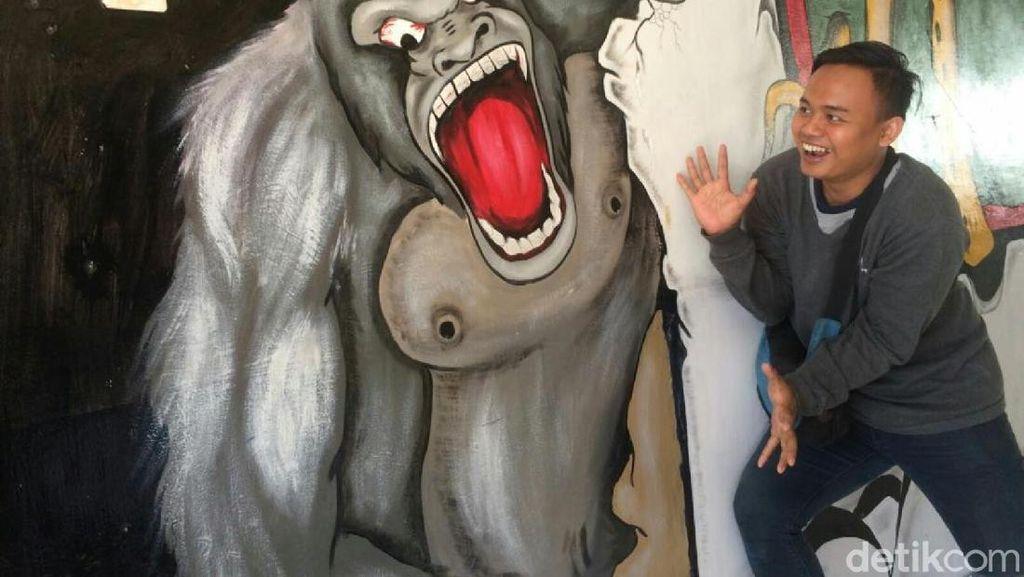 Keren, Terminal Ciamis Kini Dihiasi Lukisan Tiga Dimensi