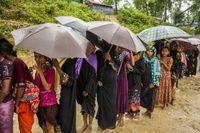 Banjir dan Longsor Terjang Camp Pengungsi Rohingya di Bangladesh