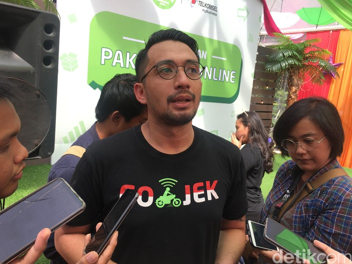 VP Corporate Communications Go-Jek Michael Say. Foto: Agus Tri Haryanto/detikINET