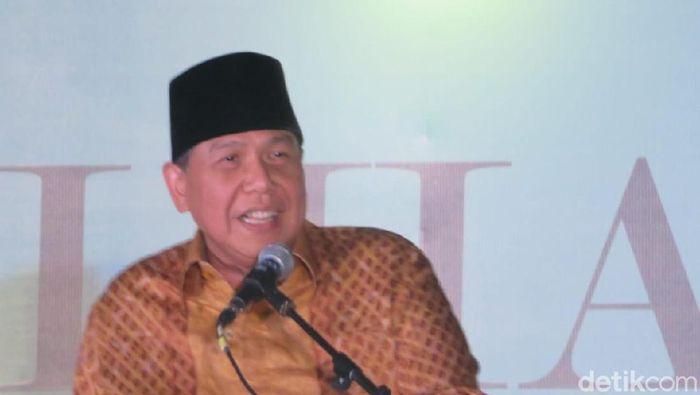 Foto: Chairman CT Corp Chairul Tanjung di halalbihalal DMI. (Noval-detikcom)