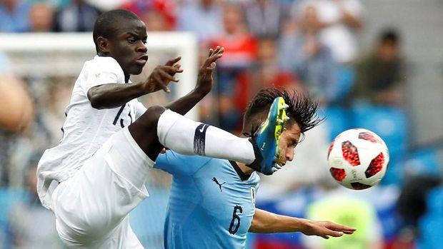 N'Golo Kante akan kembali diandalkan Prancis di final Piala Dunia 2018.