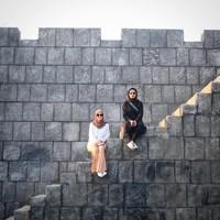 Kalau ini spot tangga benteng di Studio Alam Gamplong, Sleman (zaskiadyamecca/Instagram)