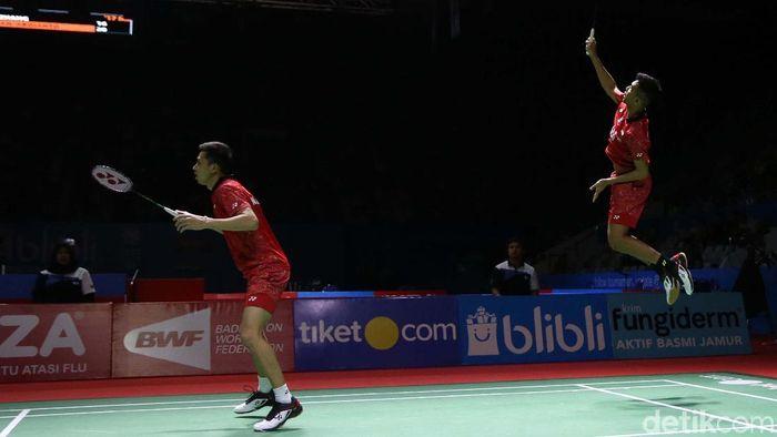 Fajar/Rian gagal ke semifinal Hong Kong Terbuka. (Foto: Agung Pambudhy)