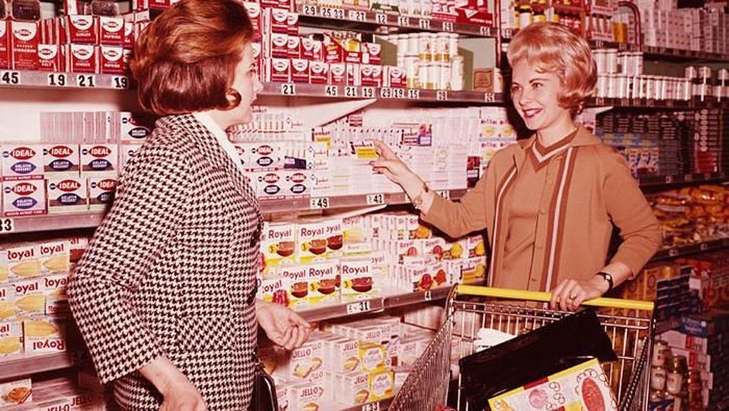 Begini Nih Suasana Supermarket di Amerika Era 1930-an