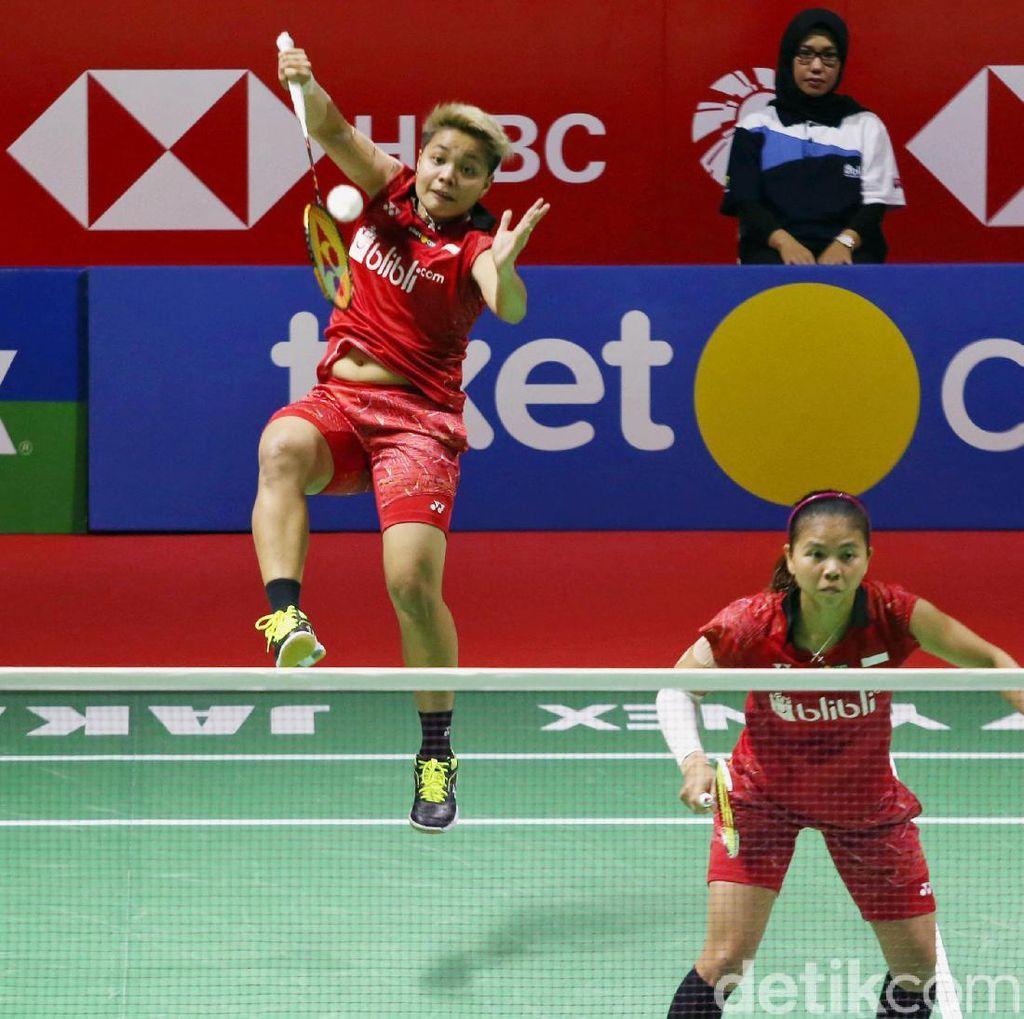 Greysia/Apriyani Pijak Perempatfinal Kejuaraan Dunia, Fajar/Rian Terhenti