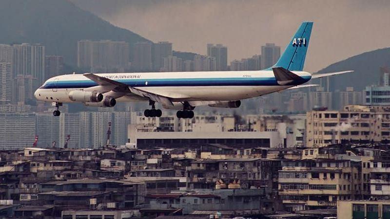 Inilah bekas Bandara Kai Tak. Bandara ini terletak di Kowloon, Hong Kong (Daryl Chapman/CNN Travel)