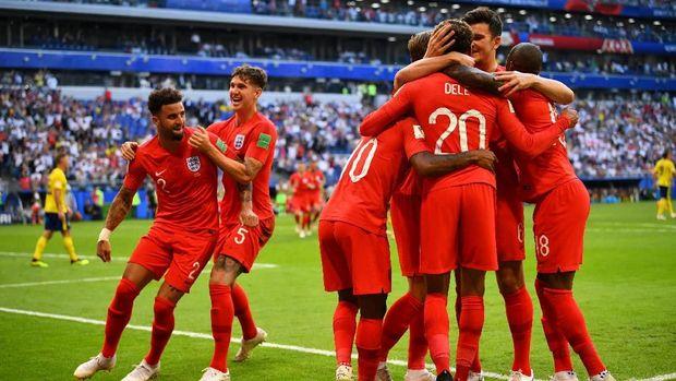 Timnas Inggris akan bertemu Kroasia di babak semifinal Piala Dunia 2018.