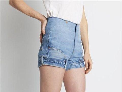Ilustrasi jeans pendek