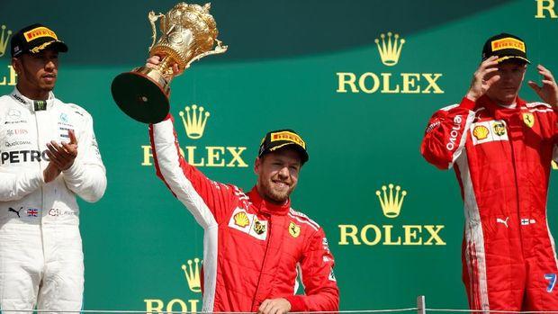 Sebastian Vettel tetap menatap positif balapan F1 GP Rusia meski ia start dari posisi ketiga.