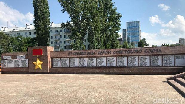 Monumen pejuang Soviet dari Samara yang gugur di PD II