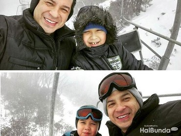 Ketika liburan di Australia. Hiiii, dingin! (Foto: Instagram @ariwibowo_official)
