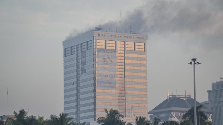 3 Orang Sempat Diperiksa Polisi Terkait Kebakaran di Kemenhub