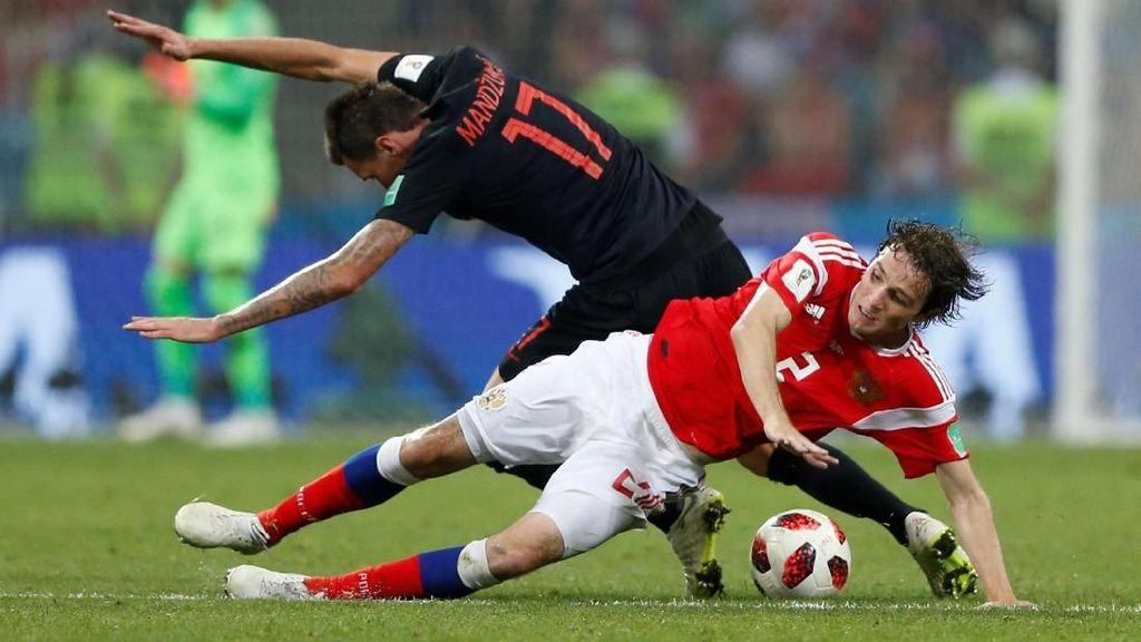 Rusia vs Kroasia Berlanjut ke Adu Penalti