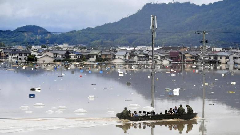Nyaris 200 Orang Tewas Akibat Banjir di Jepang, Puluhan Hilang