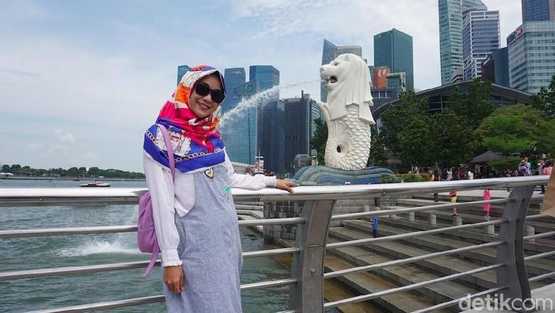 Anisa Rahma di Singapura (Shinta Angriyana/detikTravel)