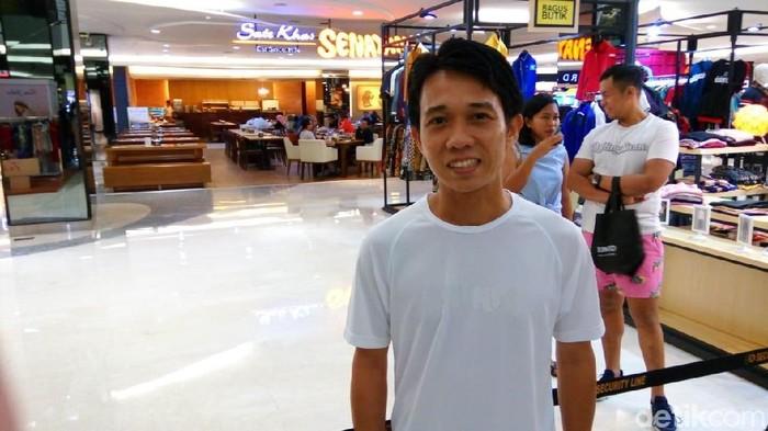 Hendra Siswanto saat ditemui di salah satu mall daerah Senayan, Jakarta Pusat. Foto: Tio/detikHealth