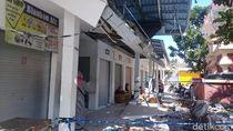 Baru Dipakai 3 Bulan, Atap Pasar Tegowanu Grobogan Ambrol
