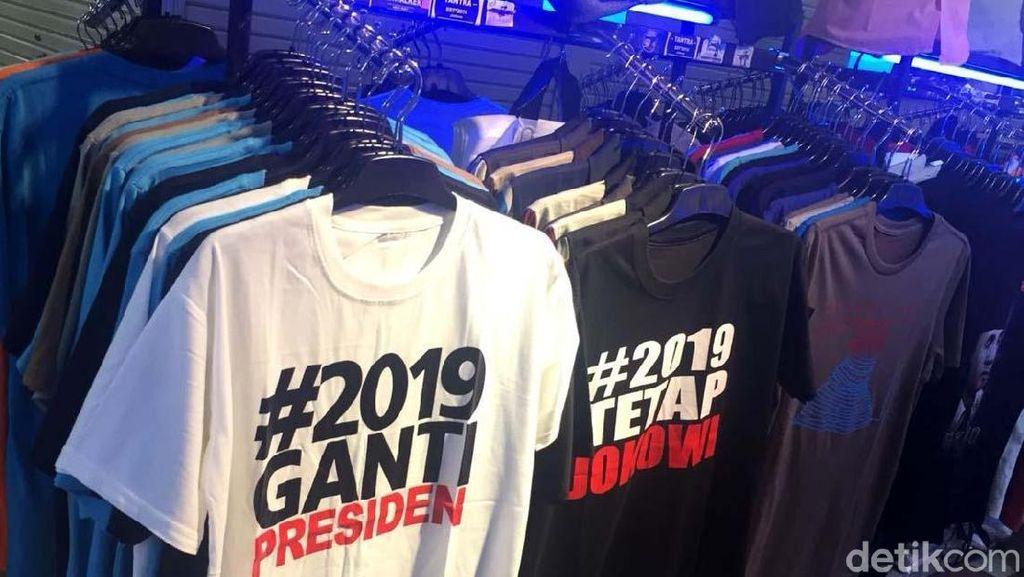 Saat Kaos #2019GantiPresiden dan #2019TetapJokowi Berdampingan