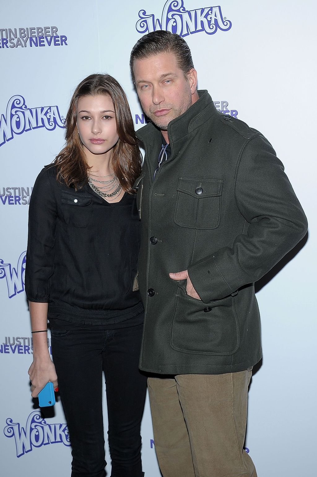 NEW YORK, NY - FEBRUARY 02:  Hailey Baldwin and Stephen Baldwin attend the New York premiere of
