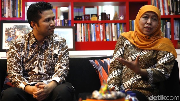 Emil Dardak-Khofifah Indar Parawansa (Rachman Haryanto/detikcom)