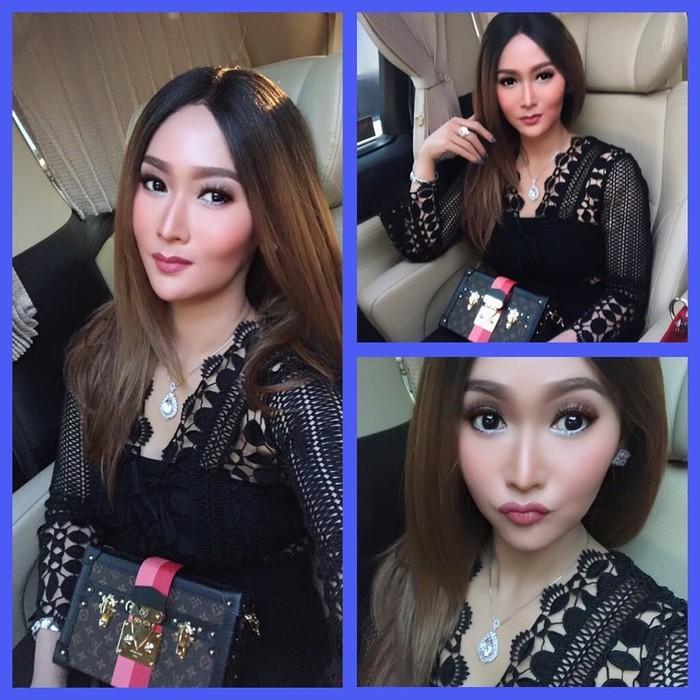 Inul Bergaya Pakai Tas Louis Vuitton. Foto: Dok. Instagram Inul