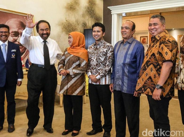 Surya Paloh Minta Khofifah Bantu Menangkan Jokowi di Pilpres