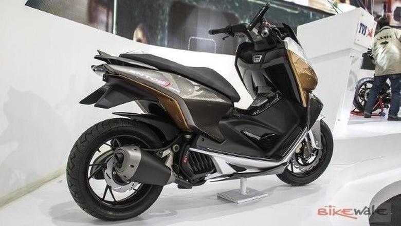 TVS Entorq 210 Concept yang akan dijadikan basis motor TVS pesaing Nmax. Foto: Dok. Bikewale