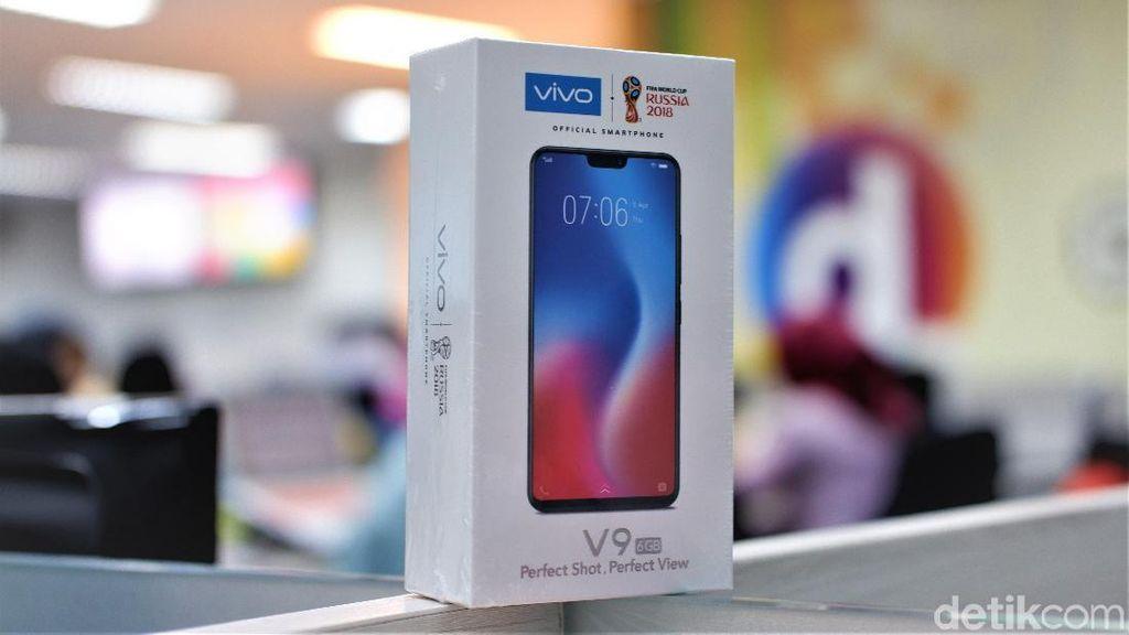 Vivo V9 RAM 6 GB mulai dijual 6 Juli lalu. Foto: Adi Fida Rahman/detikINET
