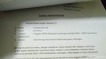 Kaharudin, Eks Ketua DPRD Lamongan Mundur dari Demokrat