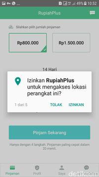 Aplikasi Meminta Izin 'Intip' Lokasi (GPS)
