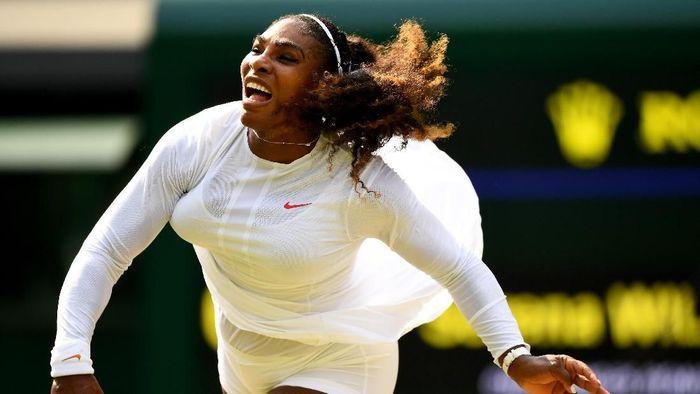 Serena Williams lolos ke perempatfinal Wimbledon (Foto: Clive Mason/Getty Images)